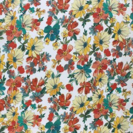 Tissu Viscose Madeleine - bleu x 10cm