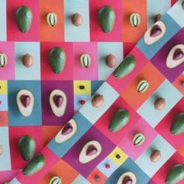 Tissu coton Avocado - rose x 10cm