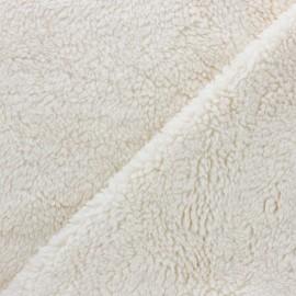 Fourrure mouton coton bio - crème x 10cm