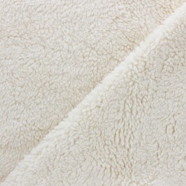 Organic cotton Sheep fur fabric - raw x 10cm