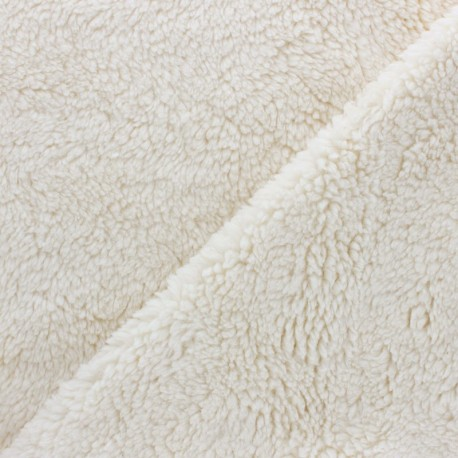Fourrure mouton coton bio - écru x 10cm