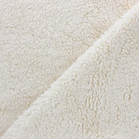 Organic cotton Sheep fur fabric - raw x 10cm