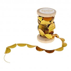 Meri Meri Garland on Spool - Gold Scallop