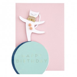 Meri Meri Birthday Card - Circus Cat
