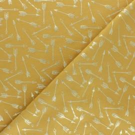 Tissu jersey Passion Fléchette - jaune/doré x 10cm