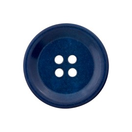 Corozo Button - Cobalt Blue Renew