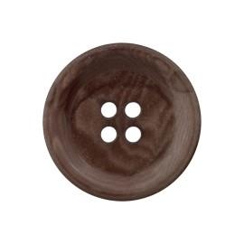 Corozo Button - Dark Oak Renew