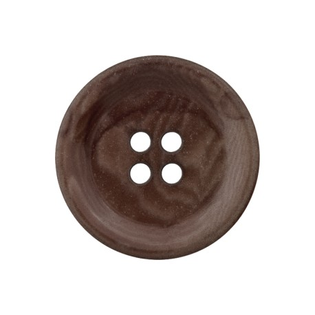 Corozo Button - Dark Oak Renew