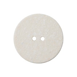Recycled Cotton Button -  White Noto