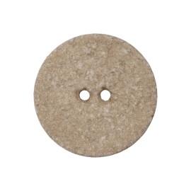 Bouton Coton Recyclé Noto 20 mm - Beige