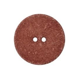 Bouton Coton Recyclé Noto 20 mm - Sienne
