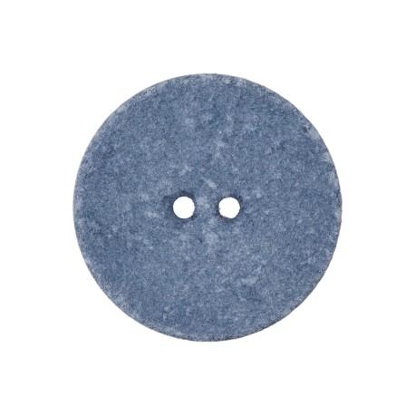 Bouton Coton Recyclé Noto 20 mm - Bleuet