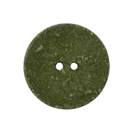 Recycled Cotton Button - Army Green Noto
