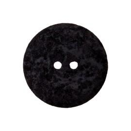 Bouton Coton Recyclé Noto 20 mm - Noir