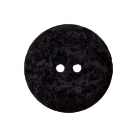 Recycled Cotton Button - Black Noto