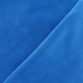 Tissu velours milleraies 200gr/ml azur
