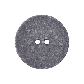 Bouton Coton Recyclé Noto 20 mm - Gris