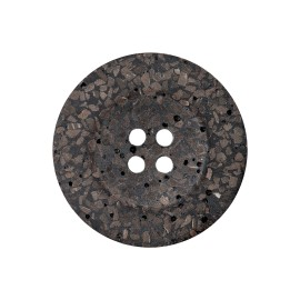 Recycled Coconut Button - Brown Timo