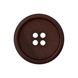 Recycled Paper Button - Dark Brown Marcelino