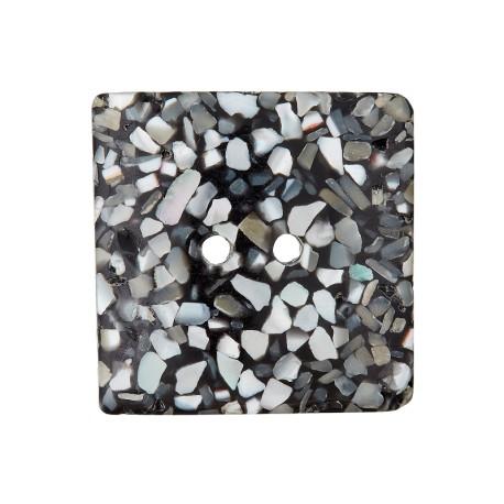 Bouton Nacre Recyclé Seashell 18 mm - Noir