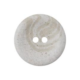 Recycled Hemp Button - Light Grey Granit