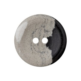 Recycled Hemp Button - Grey/Black Granit