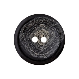 Recycled Hemp Button - Black Granit