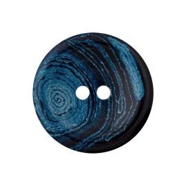 Recycled Hemp Button - Blue Granit