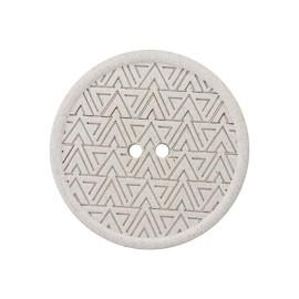Recycled Hemp Button - Light Grey Mesoa