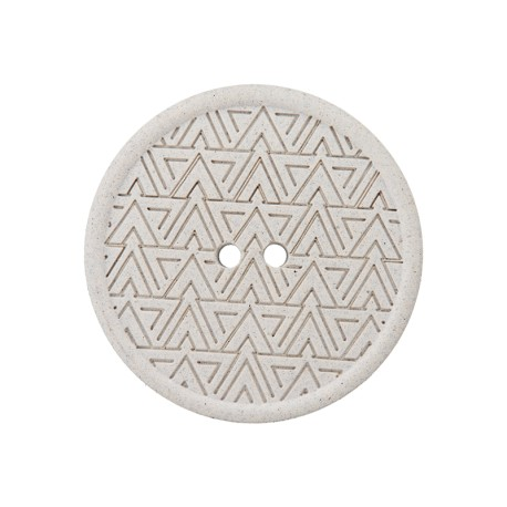 Recycled Hemp Button - Light Grey Mesoa