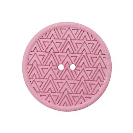 Bouton Chanvre Recyclé Mesoa 20 mm - Rose