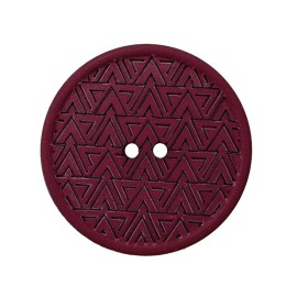 Bouton Chanvre Recyclé Mesoa 20 mm - Lie de Vin