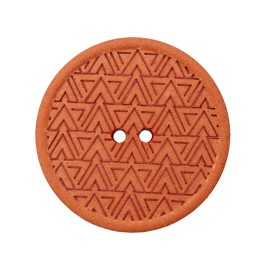 Bouton Chanvre Recyclé Mesoa 20 mm - Orange