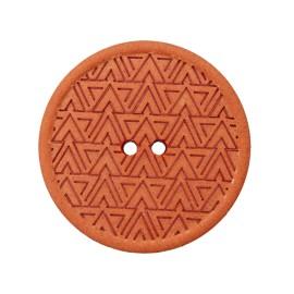 Recycled Hemp Button - Orange Mesoa