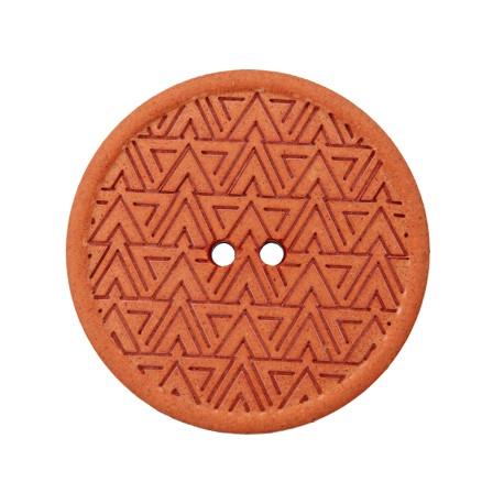 Bouton Chanvre Recyclé Mesoa 20 mm - Orange