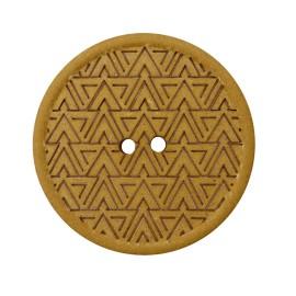 Recycled Hemp Button - Mustard Mesoa