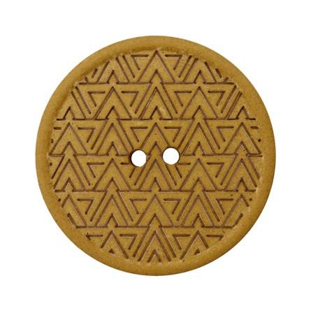 Bouton Chanvre Recyclé Mesoa 20 mm - Moutarde
