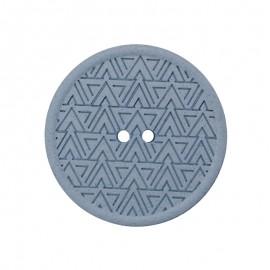 Bouton Chanvre Recyclé Mesoa 20 mm - Bleu