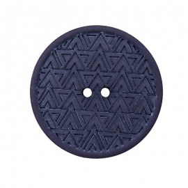 20 mm Recycled Hemp Button - Navy Blue Mesoa