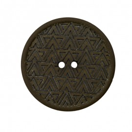 20 mm Recycled Hemp Button - Dark Green Mesoa