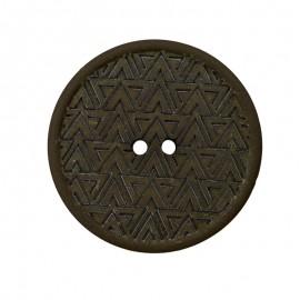Bouton Chanvre Recyclé Mesoa 20 mm - Vert Sombre