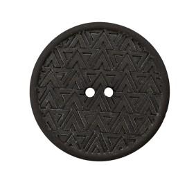 Bouton Chanvre Recyclé Mesoa 20 mm - Noir