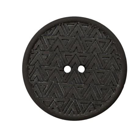20 mm Recycled Hemp Button - Dark Green Mesoa
