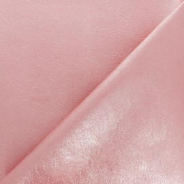 High quality faux leather fabric - Metallic pink Queenie x 10cm