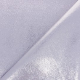 High quality faux leather fabric - Metallic lilac Queenie x 10cm