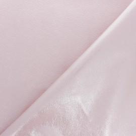 Tissu Simili cuir souple Queenie - vert clair métallisé x 10cm