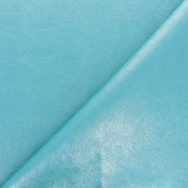 High quality faux leather fabric - Metallic turquoise Queenie x 10cm