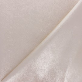 High quality faux leather fabric - Metallic beige Queenie x 10cm