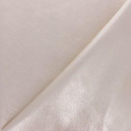 Tissu Simili cuir souple Queenie - rose clair métallisé x 10cm