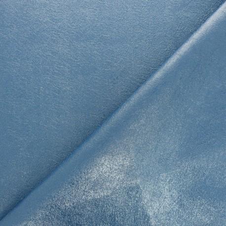 Tissu Simili cuir souple Queenie - turquoise métallisé x 10cm